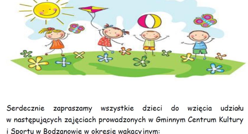 Gminne Centrum Kultury i Sportu w Bodzanowie - Zaprasza.