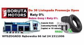 Do 30 Listopada Super ceny na opony  plus Raty 0%.